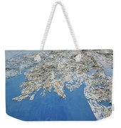Alaska Map Wall Art Weekender Tote Bag