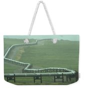 Alaska Pipeline Snakes Its Way Weekender Tote Bag