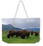 Alaska Wood Bison Weekender Tote Bag