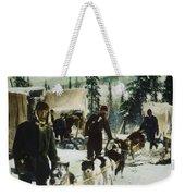 Alaskan Dog Sled, C1900 Weekender Tote Bag