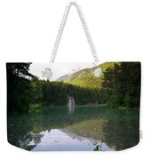 Alaskan Lake Weekender Tote Bag