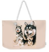 Alaskan Malamute Weekender Tote Bag by Barbara Keith