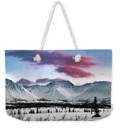 Alaskan Range At Sunset Weekender Tote Bag