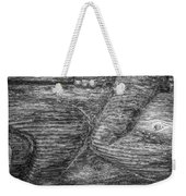 Alaskan Totem Pole Black White Weekender Tote Bag