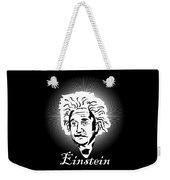 Albert Einstein Caricature On A White Glow Weekender Tote Bag