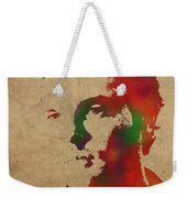 Alden Ehrenreich Watercolor Portrait Weekender Tote Bag