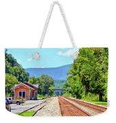Alderson Train Depot And Tracks Alderson West Virginia Weekender Tote Bag