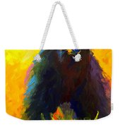 Alert - Black Bear Weekender Tote Bag
