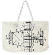 Alexander Graham Bell Airplane Patent Print, Plane Patent Blueprint Weekender Tote Bag
