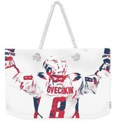 Alexander Ovechkin Washington Capitals Pixel Art 9 Weekender Tote Bag