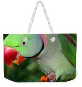 Alexandrine Parrot Feeding Weekender Tote Bag