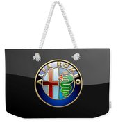 Alfa Romeo - 3 D Badge On Black Weekender Tote Bag