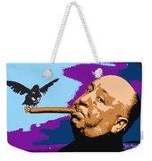 Alfred Hitchcock Weekender Tote Bag by John Keaton