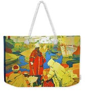 Algeria, Traditional Market, Tourist Advertising Poster Weekender Tote Bag