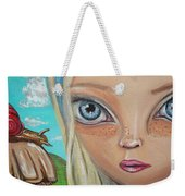 Alice Finds A Snail Weekender Tote Bag