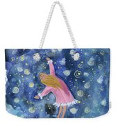 Alice Flying Inthe Night Sky Weekender Tote Bag