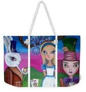 Alice In Wonderland Inspired Triptych Weekender Tote Bag