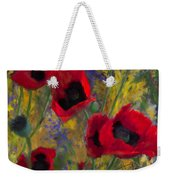 Alicias Poppies Weekender Tote Bag