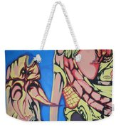 Alien Birds Weekender Tote Bag