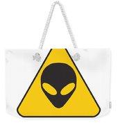 Alien Grey Graphic Weekender Tote Bag