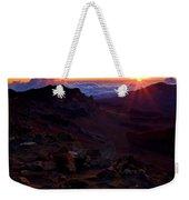 Alien Sunrise Weekender Tote Bag by Mike  Dawson