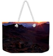 Alien Sunrise Weekender Tote Bag