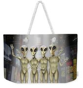 Alien Vacation - Beamed Up From Time Square Weekender Tote Bag