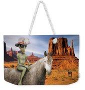 Alien Vacation - Monument Valley Weekender Tote Bag
