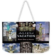 Alien Vacation - Poster Weekender Tote Bag