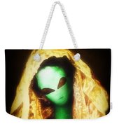 Alien Wearing Lace Mantilla Weekender Tote Bag