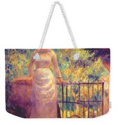 Aline At The Gate Girl In The Garden 1884 Weekender Tote Bag