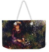 Aline Charigot With A Dog 1880 Weekender Tote Bag