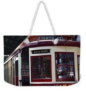 All Aboard For Brooklyn Bridge Weekender Tote Bag