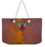 All Alone Red Pipe Weekender Tote Bag