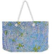 All Around In Light-blue Weekender Tote Bag