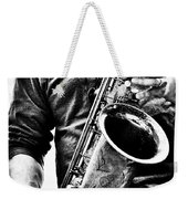All Blues Man With Jazz On The Side Weekender Tote Bag by Bob Orsillo