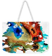 All Seasons Tree 3 - Colorful Landscape Print Weekender Tote Bag