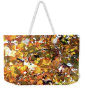 All The Leaves Are Red And Orange Fall Foliage With Sunshine Weekender Tote Bag