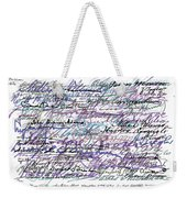 All The Presidents Signatures Blue Rose Weekender Tote Bag
