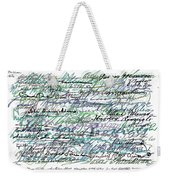 All The Presidents Signatures Teal Blue Weekender Tote Bag