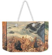 All Things Die  But All Will Be Resurrected Through God's Love Weekender Tote Bag
