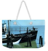 Allen Cody Of The Del Monte Fishing Co. And A Fin Whale 1967 Weekender Tote Bag
