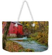 Alley Mill In Autumn Weekender Tote Bag
