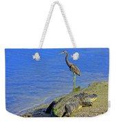 Alligator And Blue Heron Weekender Tote Bag