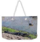 Alligator And Heron Weekender Tote Bag