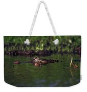 Alligator Eyes Weekender Tote Bag