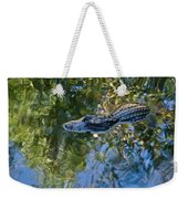 Alligator Stalking Weekender Tote Bag