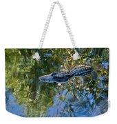 Alligator Stalking Weekender Tote Bag