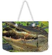 Alligator With Tilapia Weekender Tote Bag