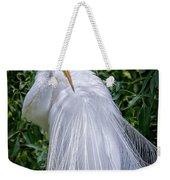 Alluring In White Weekender Tote Bag
